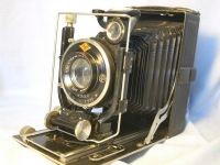 '   1/4 Plate Agfa Isolar c/w Solinar 4.5 13.5cm ' Agfa Folding 1/4 Plate Camera c/w Solinar FAST lens in Compur Shutter +PLates+ Filters Cased £79.99
